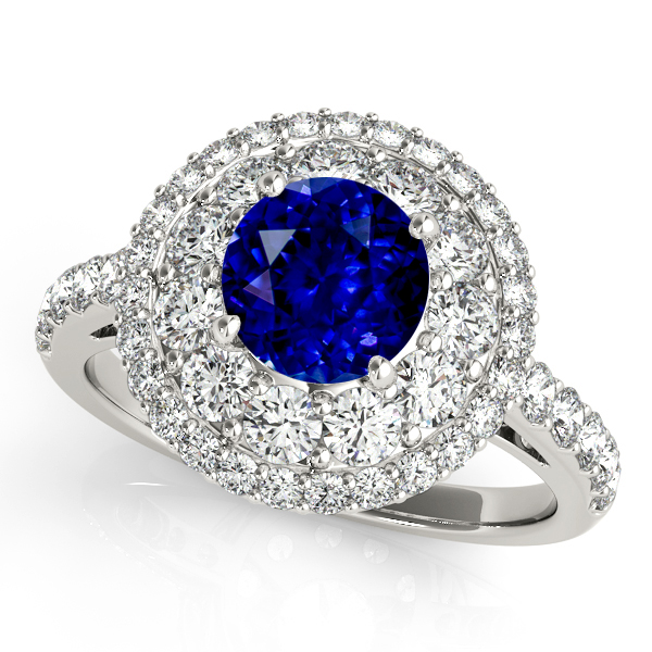 Unprecedented Double Halo Sapphire Engagement Ring