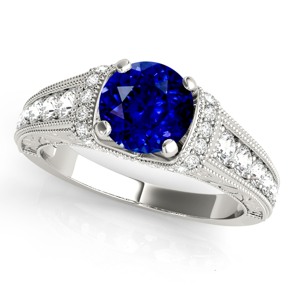 Incomparable Vintage Sapphire Engagement Ring