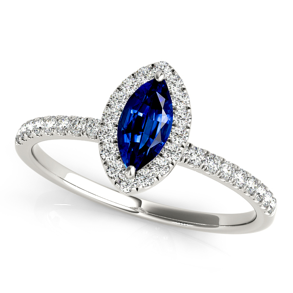 Classic Marquise Sapphire Engagement Ring