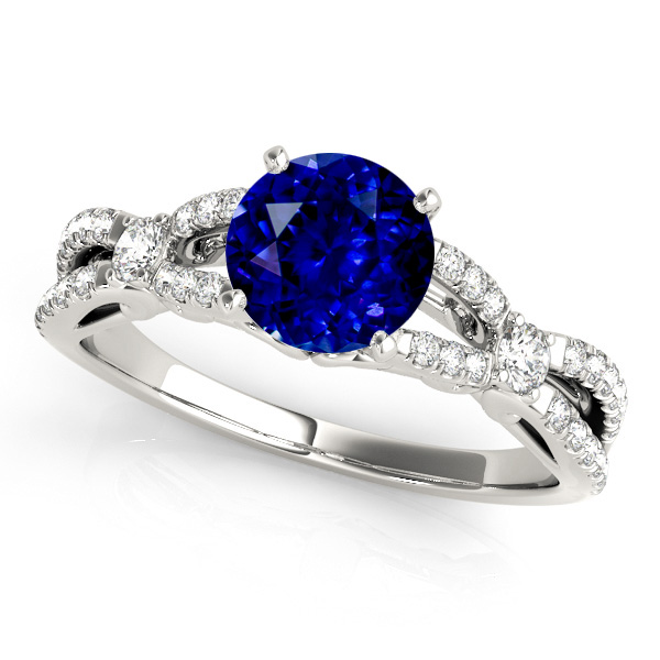 Exclusive Infinity Sapphire Engagement Ring