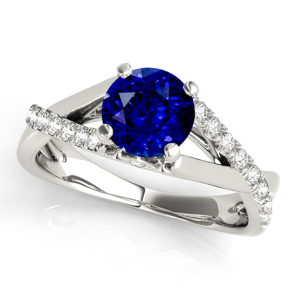 Exclusive Infinity Sapphire Engagement Ring White Gold
