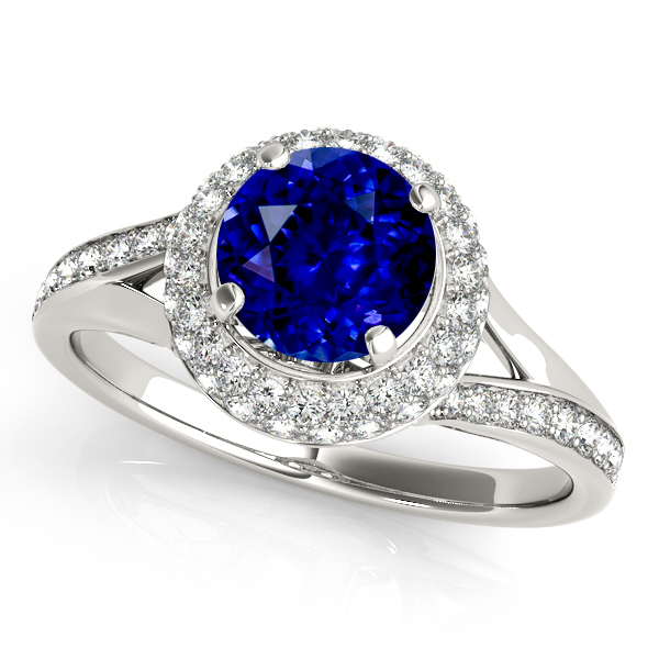 Unequaled Double Halo Sapphire Engagement Ring
