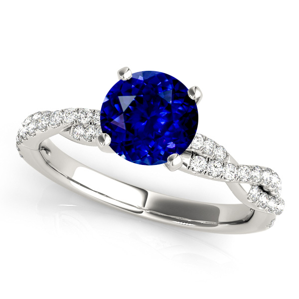 Twist Shank Infinity Sapphire Engagement Ring