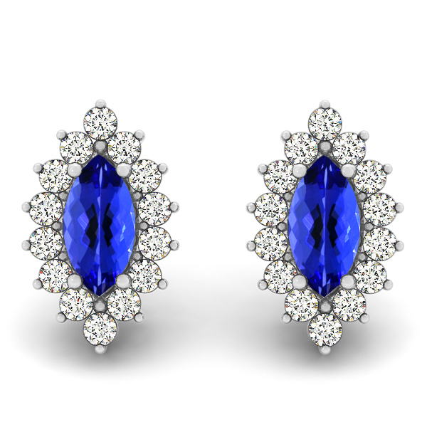 Marquise Cut Tanzanite Earrings