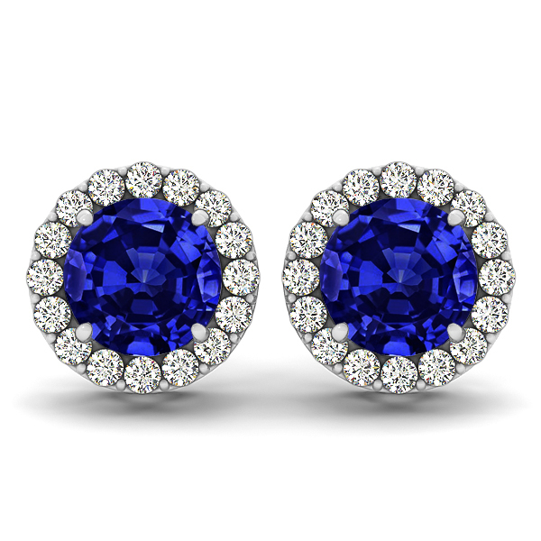 Fancy Tanzanite Stud Earrings