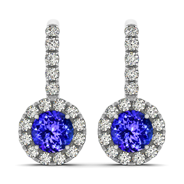 White Gold Tanzanite Earrings