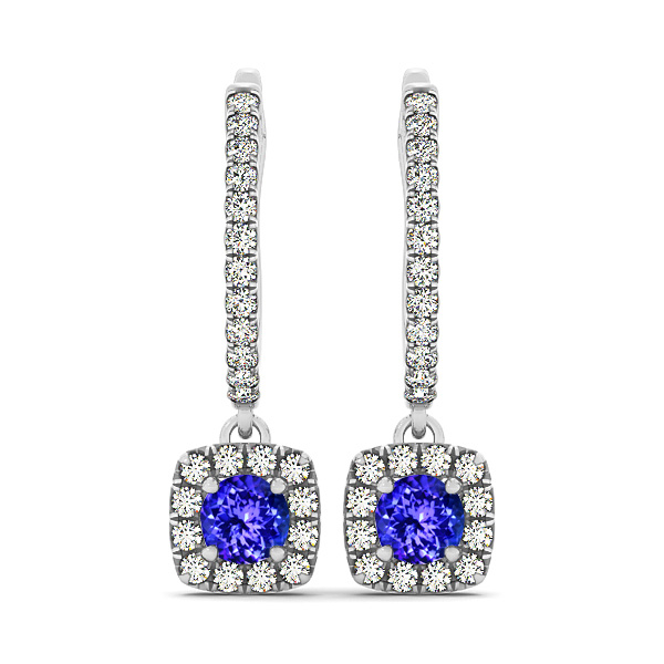 Fine Tanzanite Dangle Earrings