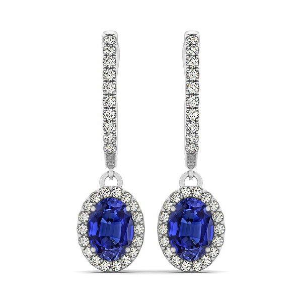Oval Cut Tanzanite Earrings