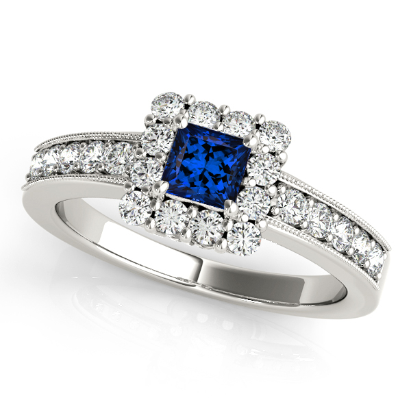 gold and tanzanite white engagement vintage ring diamond rings