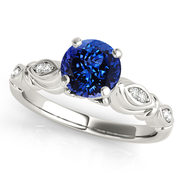 Fine Vintage Tanzanite Engagement Ring in White Gold