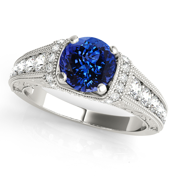 Incomparable Vintage Tanzanite Engagement Ring