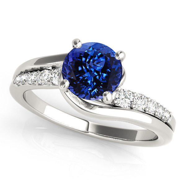 avant garde split shank bypass tanzanite engagement ring - Tanzanite Wedding Rings