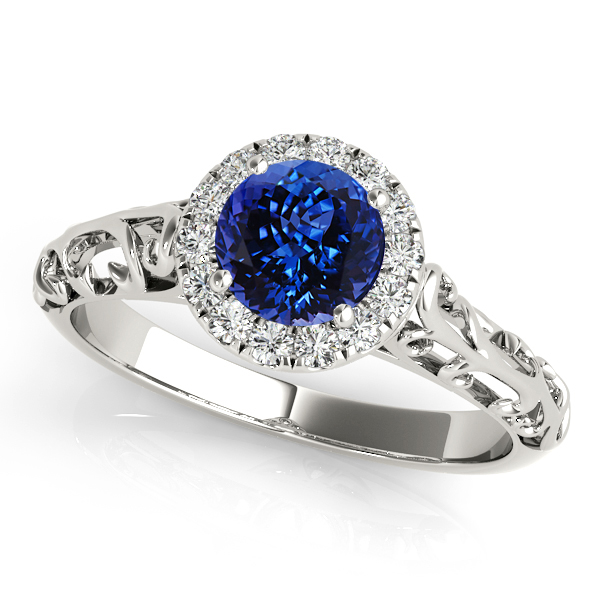 Unique Vintage Style Tanzanite Engagement Ring