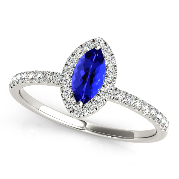 Classic Marquise Tanzanite Engagement Ring