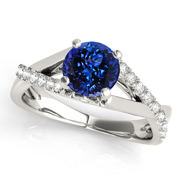 Exclusive Infinity Tanzanite Engagement Ring White Gold