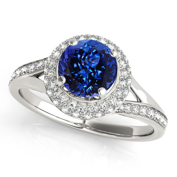 Unequaled Double Halo Tanzanite Engagement Ring
