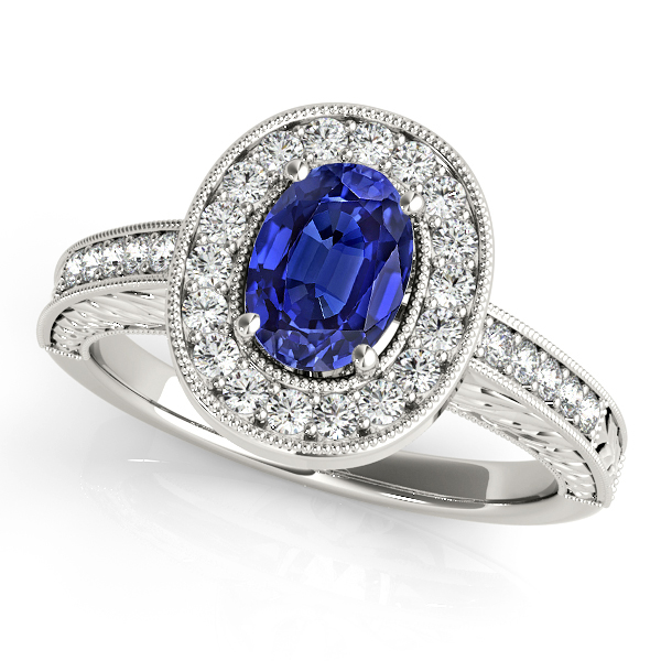 Vintage Oval Cut Tanzanite Engagement Ring
