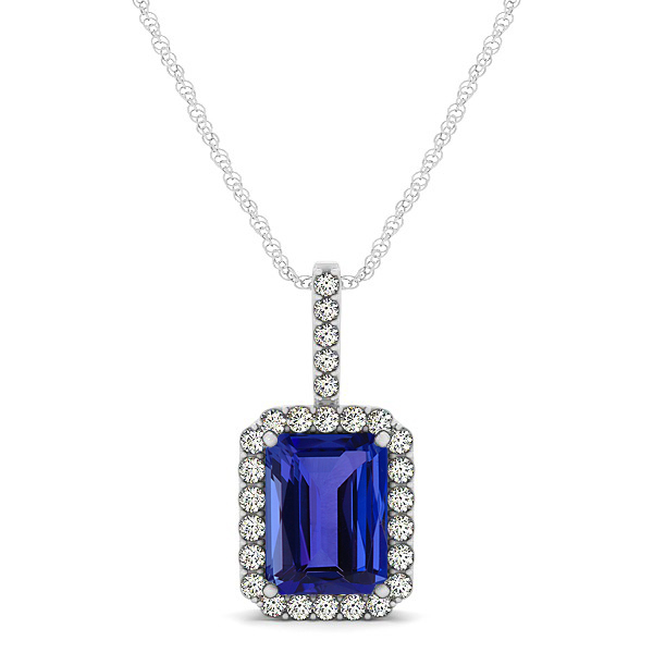 emerald cut and diamond tanzanite ring