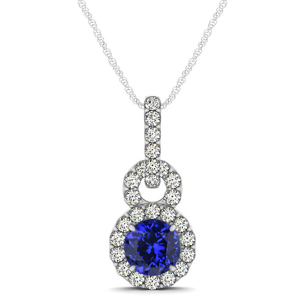 Stunning Infinity Halo Tanzanite Necklace