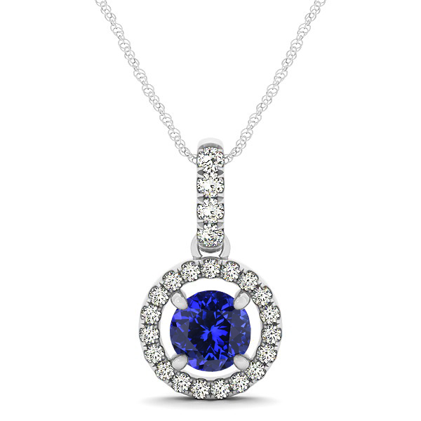 Necklace white gold tanzanite necklace white gold mozeypictures Choice Image