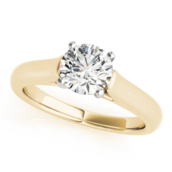 Traditional Solitaire Engagement Ring with Cathedral Setting