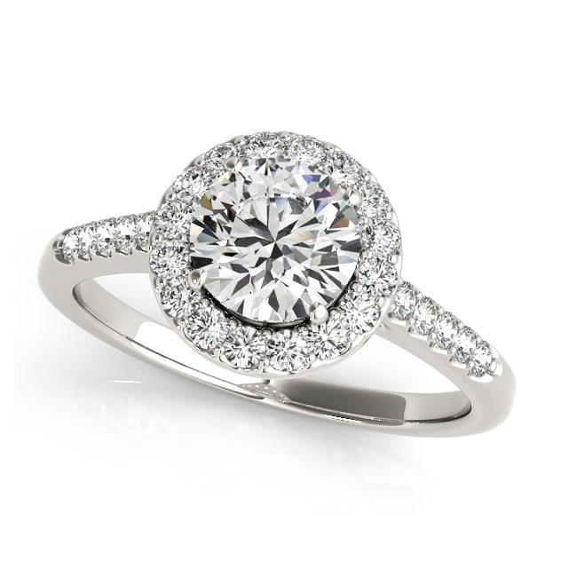 Attractive Classic Round Cut Halo Engagement Ring