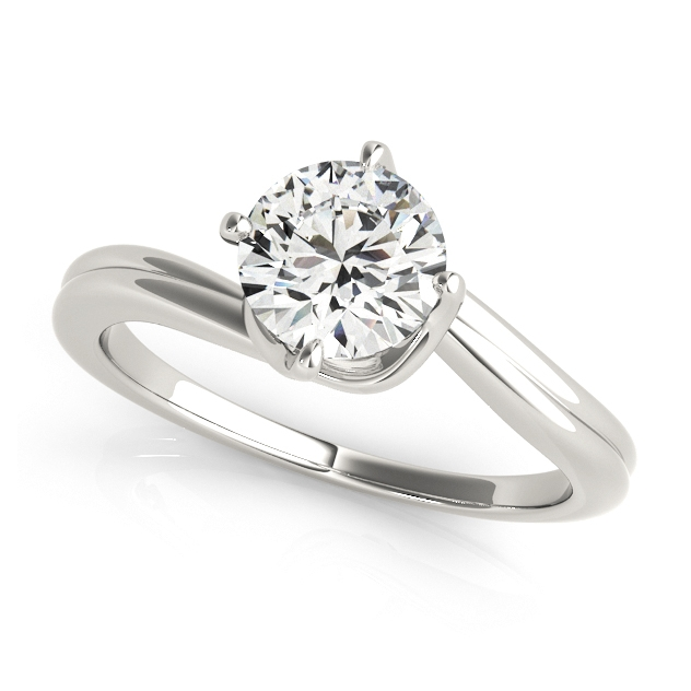 Infinitely Elegant Solitaire Bypass Engagement Ring