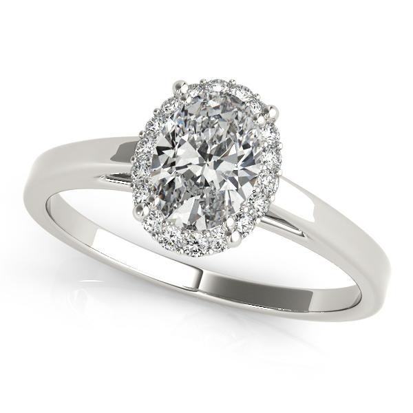 & Elegant Oval Cut Halo Engagement Ring