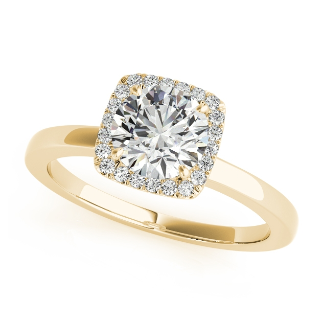 Exquisite Halo Engagement Ring Set at an Affordable Price