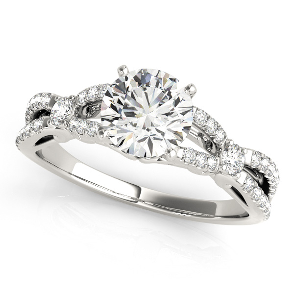 Diamond Engagement Ring with Infinity Accent