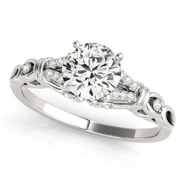 Royal Vintage Engagement Ring Side Accents