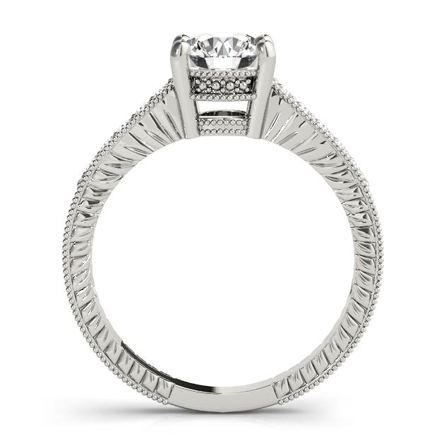 side view of elegant vintage engagement ring