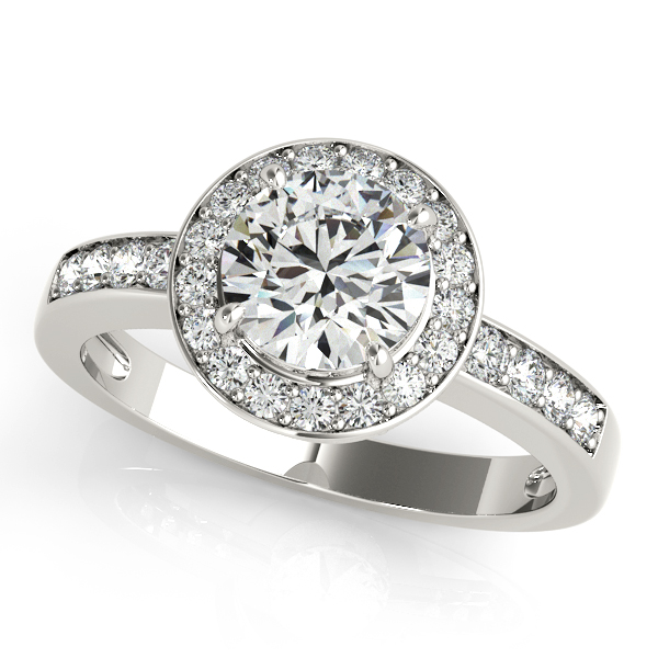 Engagement Ring with Halo Diamonds