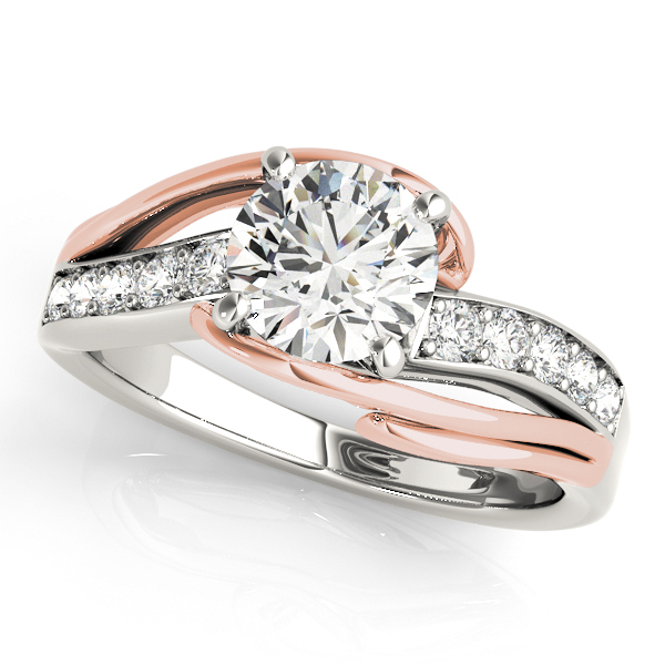 Pretty Split Shank Side Stone Bypass Engagement Ring